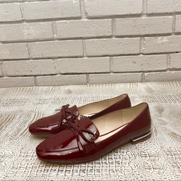 3dd1ec4c8ab Zara Red Women s Faux Patent Leather Loafers